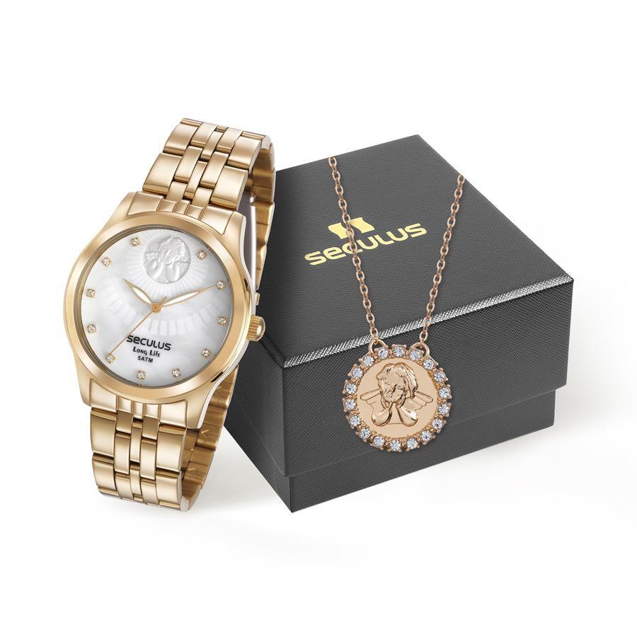 2c324e35b14 Relógios Web Shop Relógio Seculus Feminino Ref  28967lpskda1 Anjo da Guarda