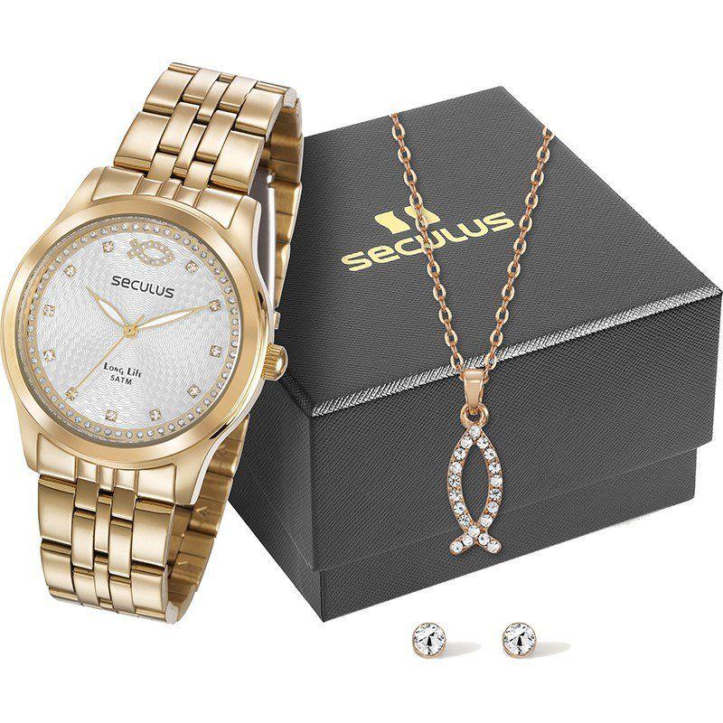 Relógios Web Shop Relógio Seculus Feminino Ref  28968lpskda1 Peixe  Cristianismo 065f5086ff