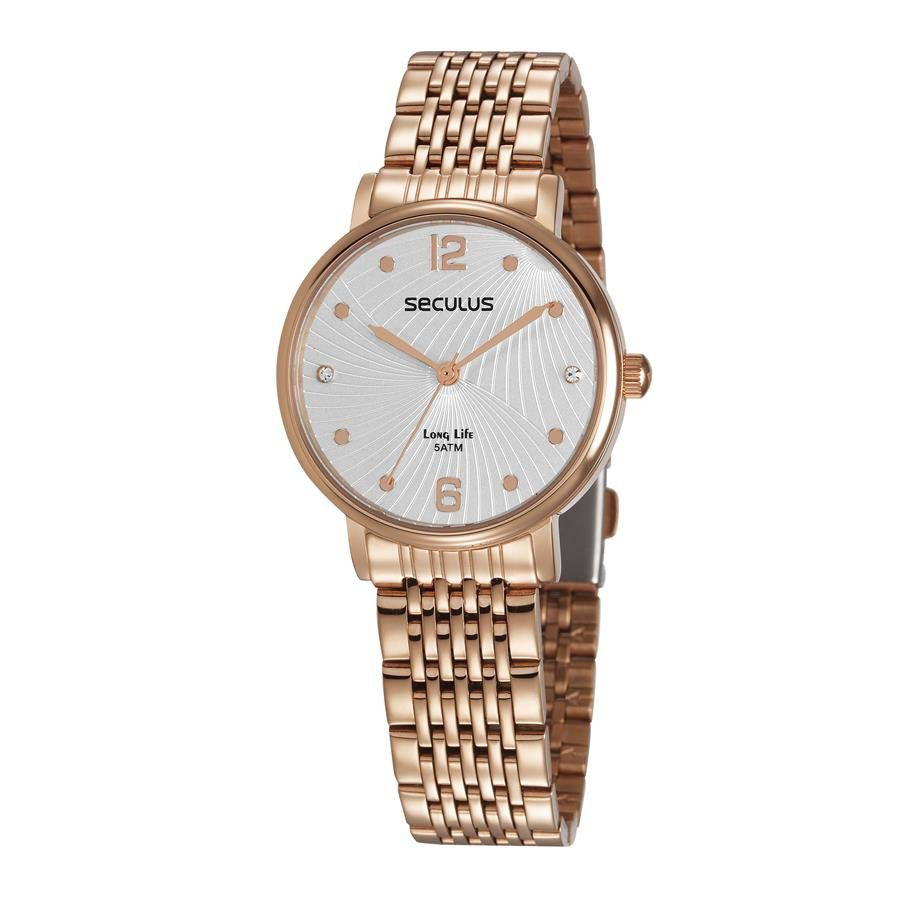 Relógio Seculus Feminino Ref  28969lpsvra2 Fashion Rosé - Relógios Web Shop  ... 6cbfb99048