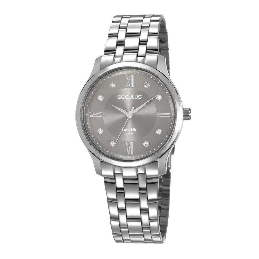 Relógios Web Shop Relógio Seculus Feminino Ref  77007l0svna2 Fashion  Prateado 06da380f72