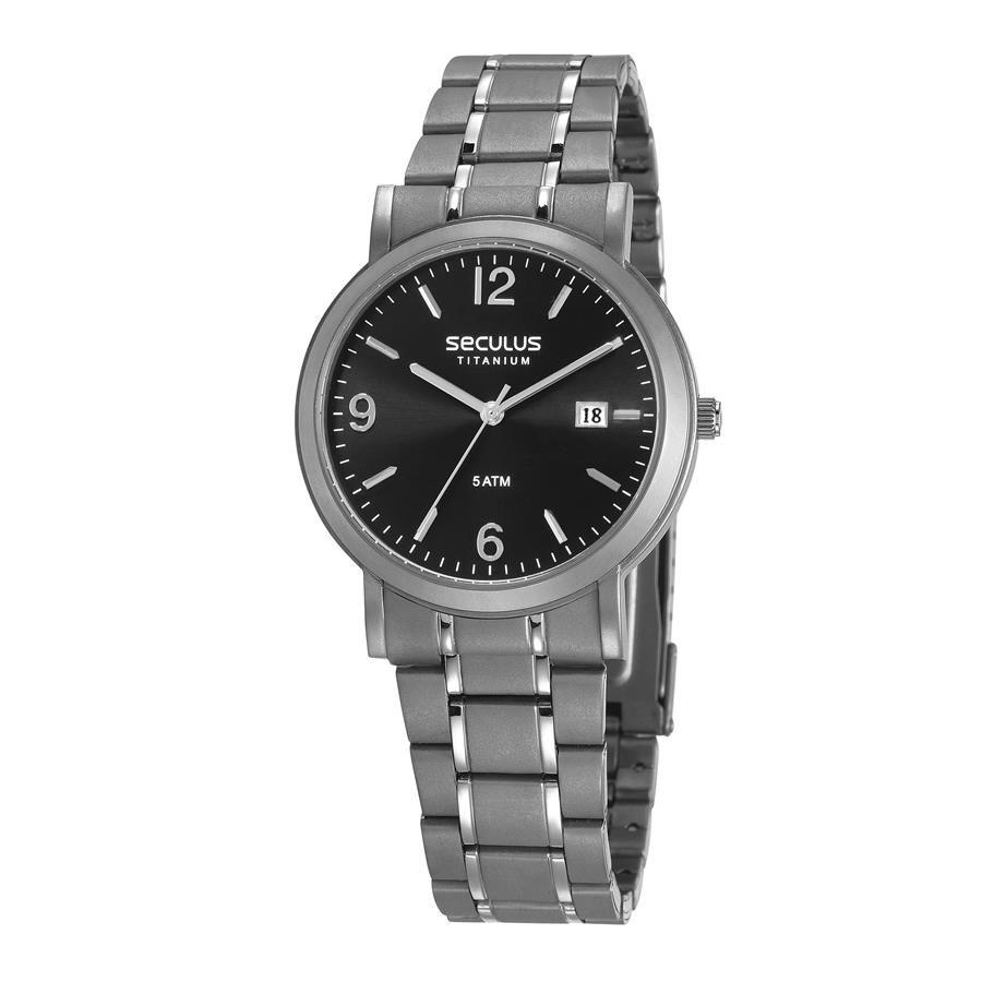 830c0388bbd Relógios Web Shop Relógio Seculus Masculino Ref  23637g0svnt2 Clássico  Titânio