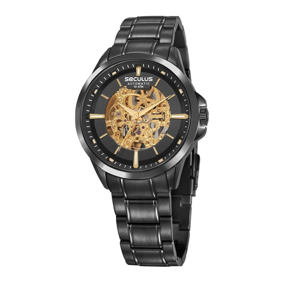 5a2ac5e6f45 Relógio Seculus Masculino Ref  20754gpsvpa1 Automático Esqueleto Black - Relógios  Web Shop ...