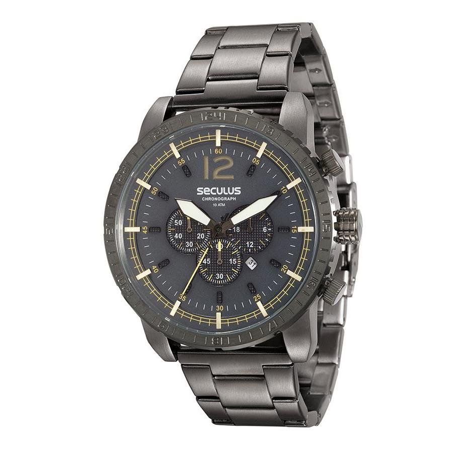56d0c1c1a5a Relógios Web Shop Relógio Seculus Masculino Ref  90007gpsvsa2 Big Case Black