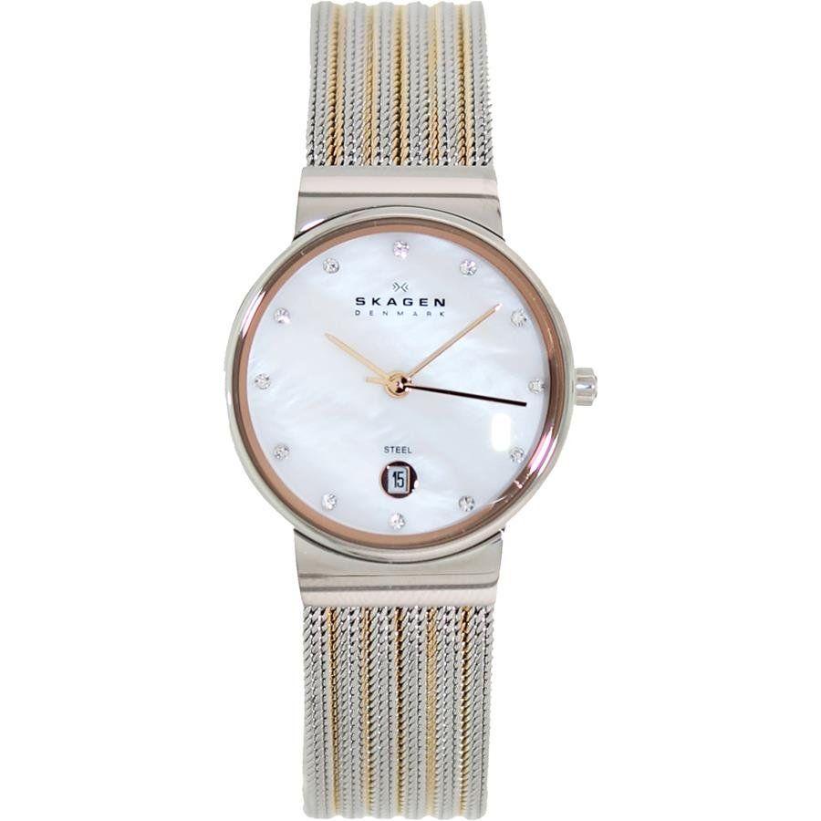 b949a1e17a3a4 Relógio Skagen Feminino Ref  355ssrs 5kn Slim Bicolor - Relógios Web Shop  ...