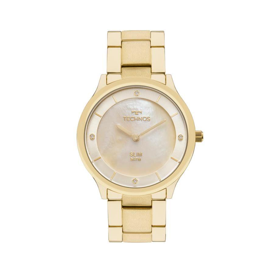 fe25bf0388d Relógios Web Shop Relógio Technos Feminino Ref  Gl20hf 4x Slim Dourado