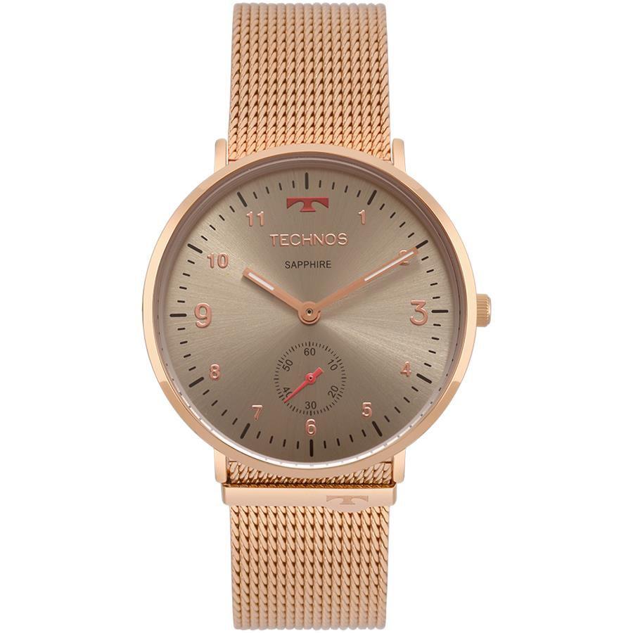 Relógios Web Shop Relógio Technos Feminino Ref  1l45ay 4c Slim Rosé cdd71721bb