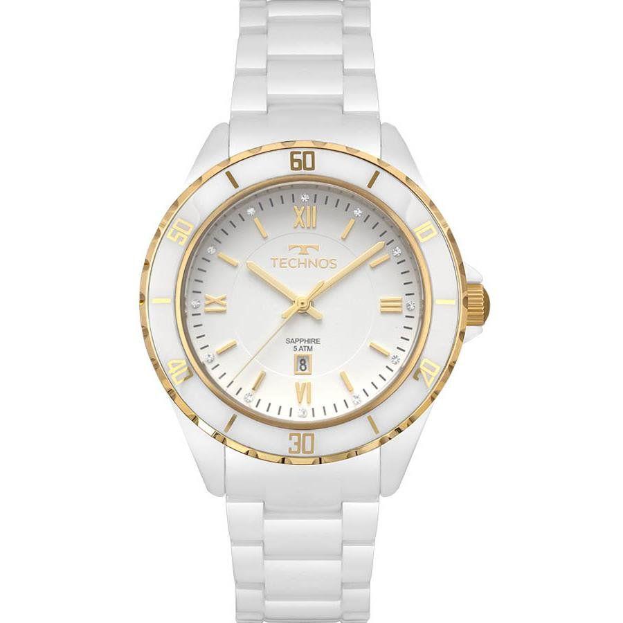 c5671df61d99e Relógios Web Shop Relógio Technos Feminino Ref  2015cap 4b Cerâmica Branco