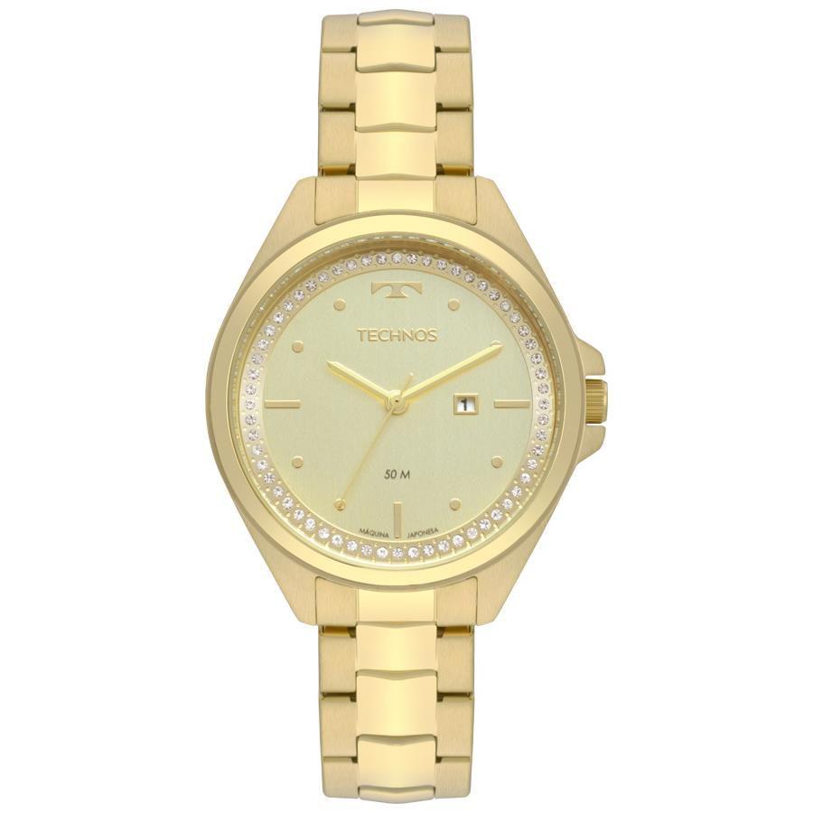 3a997827f9 Relógio Technos Feminino Ref  2015cbv 4x Fashion Dourado - Relógios Web Shop