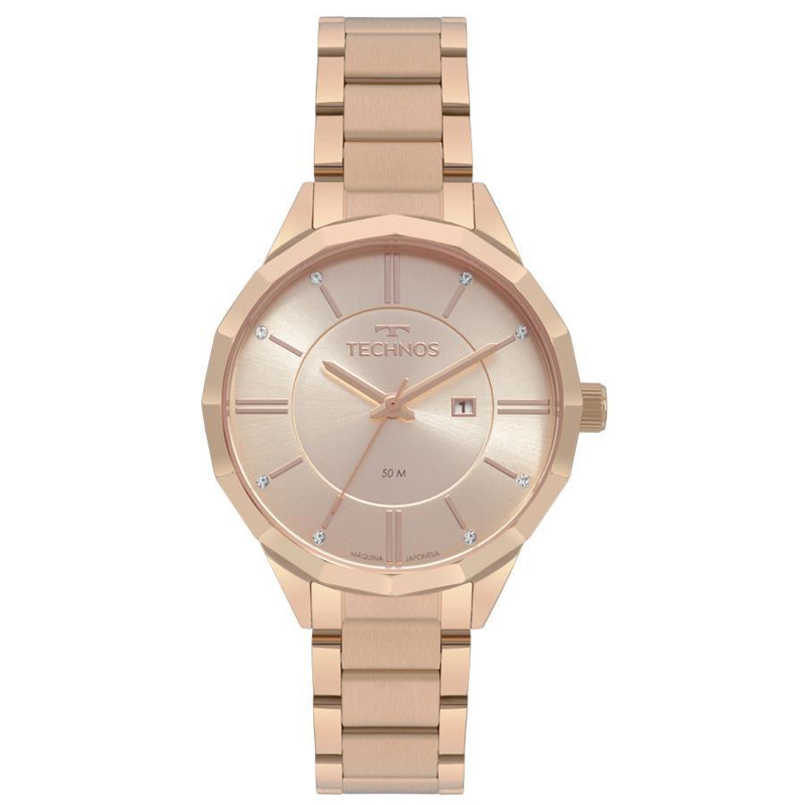 19fe3bea4ac64 Relógios Web Shop Relógio Technos Feminino Ref  2015ccm 4t Fashion Rosé