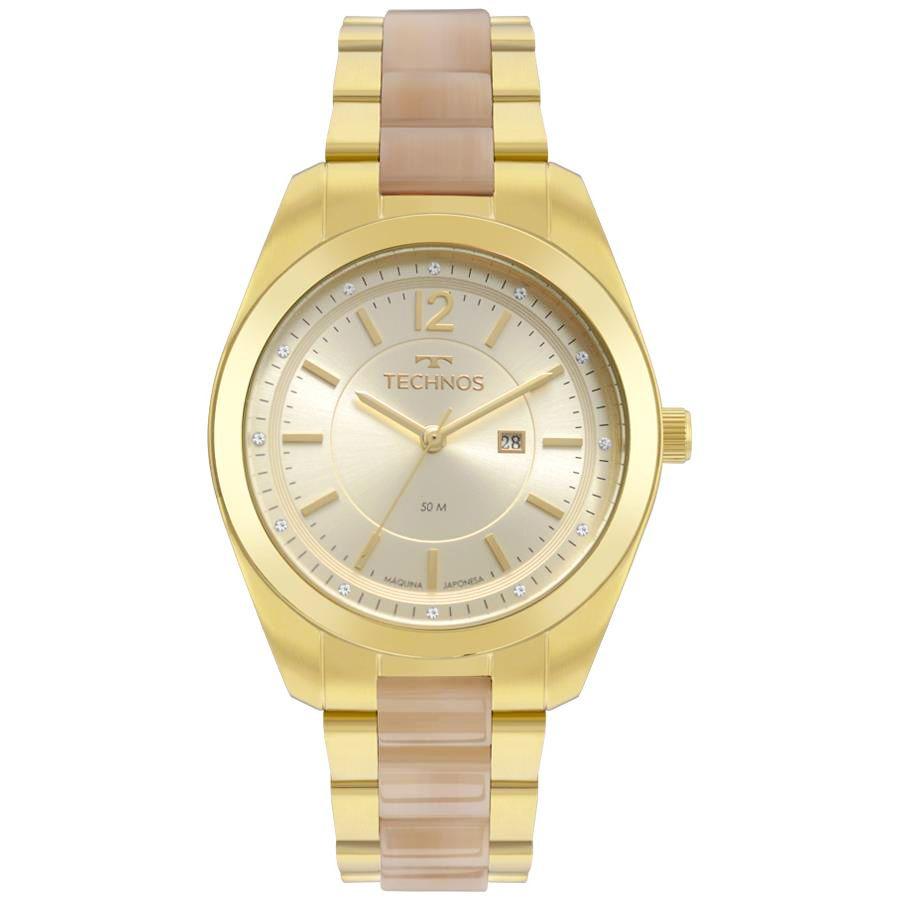 1325a25861 Relógios Web Shop Relógio Technos Feminino Ref  2015ccx 4x Fashion Dourado