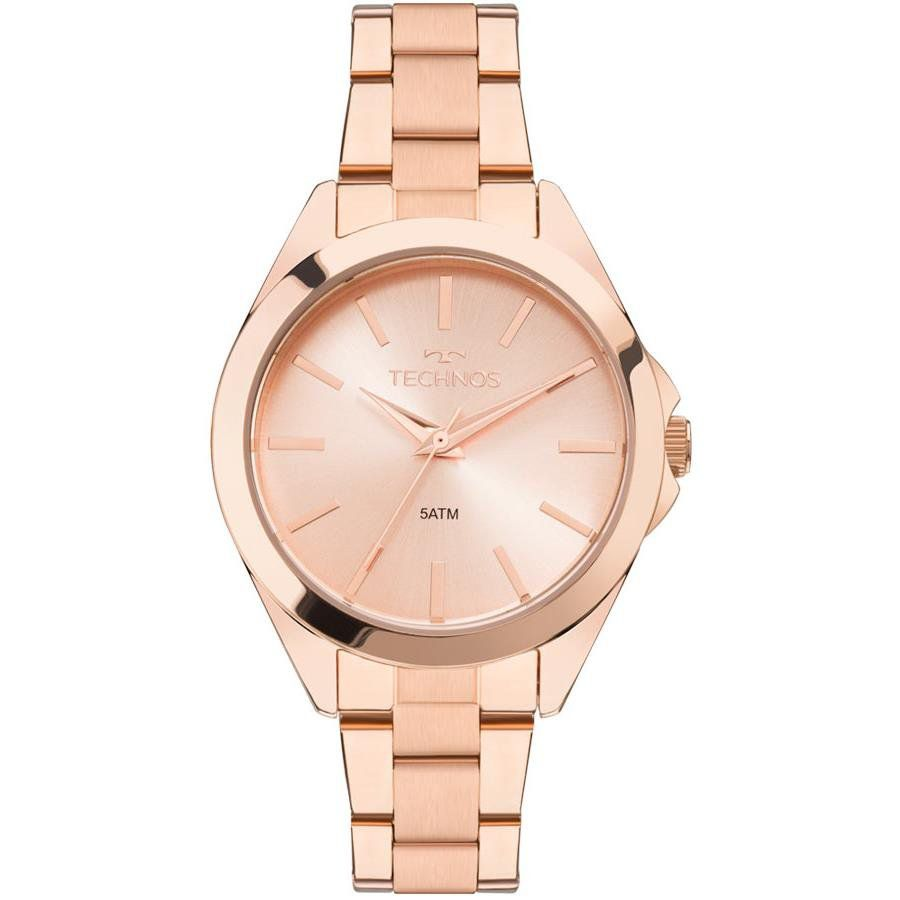 Relógios Web Shop Relógio Technos Feminino Ref  2035mlm 4j Casual Rosé 2547b2ab92