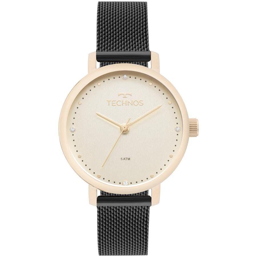 32780f0c16b52 Relógios Web Shop Relógio Technos Feminino Ref  2035mml 5x Fashion Dourado