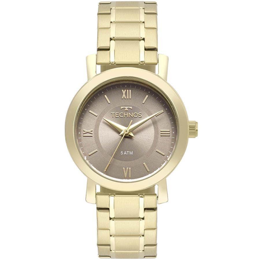 Relógios Web Shop Relógio Technos Feminino Ref  2035mms 4c Casual Dourado 7dc27e73592
