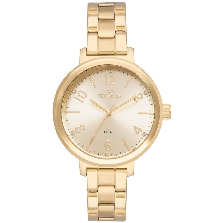 Relógios Web Shop Relógio Technos Feminino Ref  2035mmt 4d Casual Dourado 1edd4b6d4f
