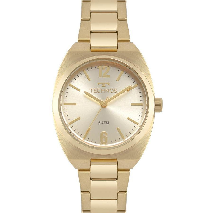 99a7f7adfb0a3 Relógios Web Shop Relógio Technos Feminino Ref  2035mpa 4x Elegance Dourado