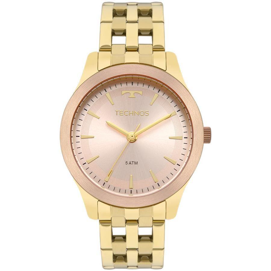 2beba5506e526 Relógios Web Shop Relógio Technos Feminino Ref  2035mpm 5t Elegance Dourado