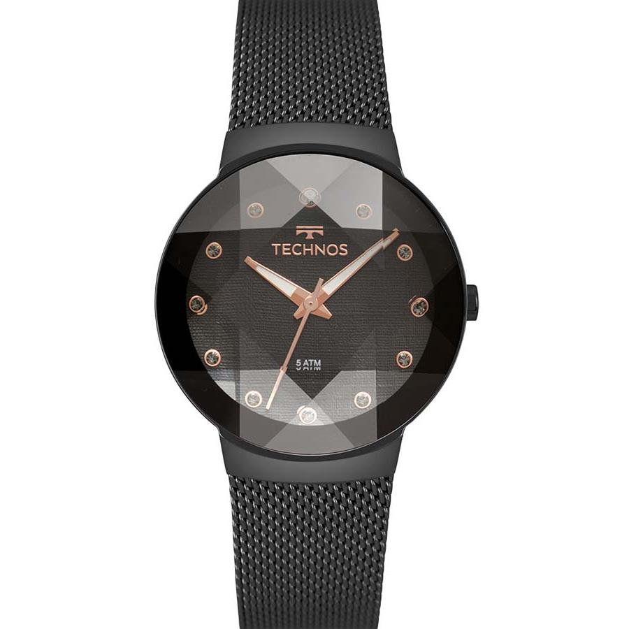 e128711f8854b Relógios Web Shop Relógio Technos Feminino Ref  2035mpy 5p Crystal Preto