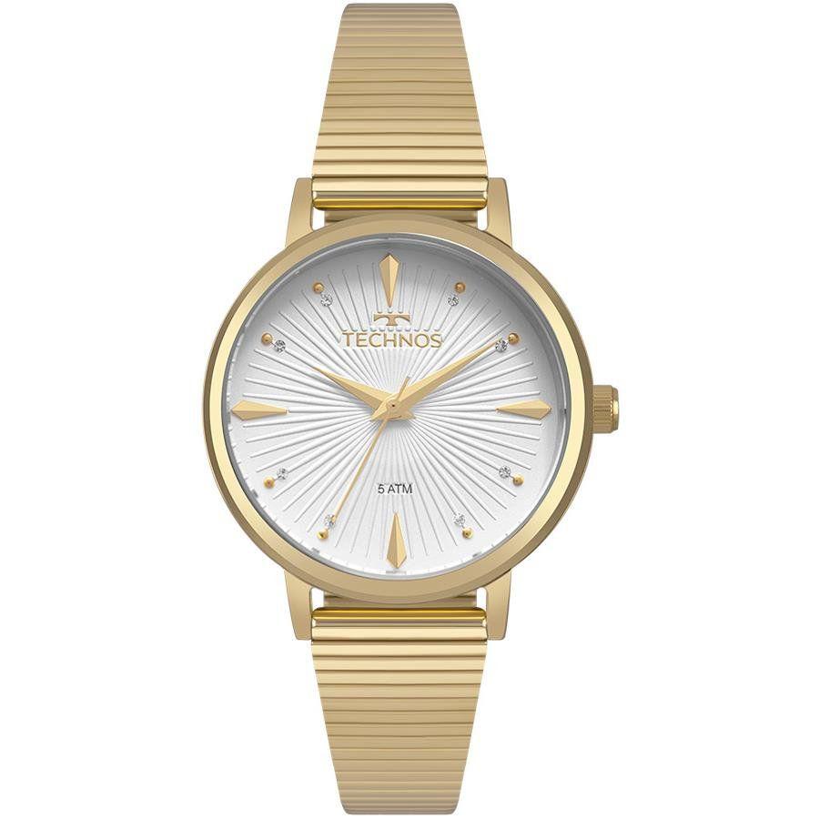 bdbfaee858 Relógios Web Shop Relógio Technos Feminino Ref  2036mjw 4x Fashion Dourado