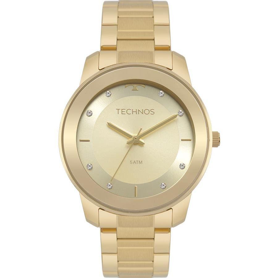 bdcfe0bd9f89d Relógios Web Shop Relógio Technos Feminino Ref  2036mkd 4x Fashion Dourado