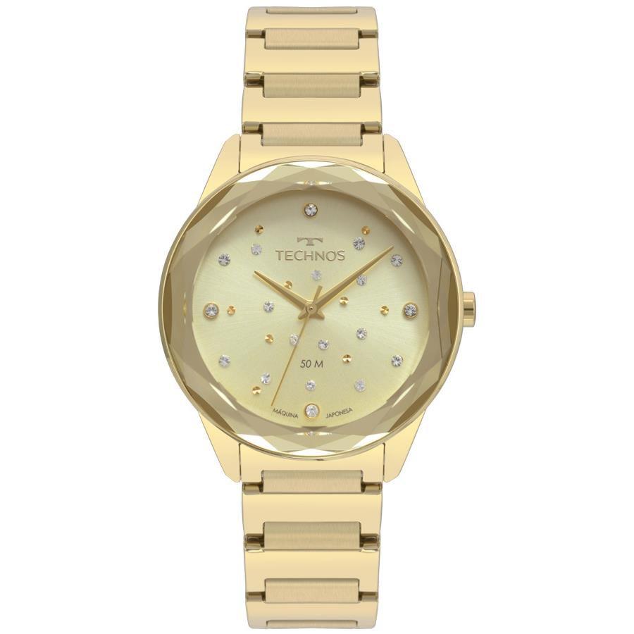 e37f52cdb2f6e Relógios Web Shop Relógio Technos Feminino Ref  2036mkh 4x Crystal Dourado