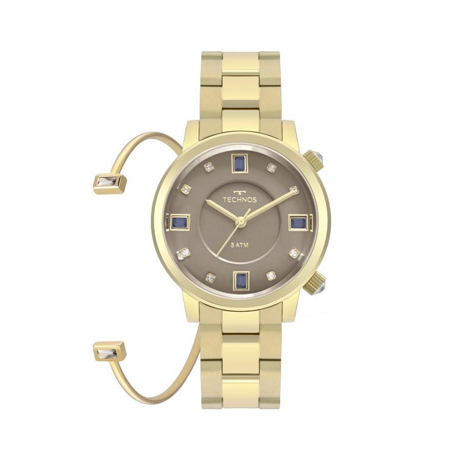 3e2d1986721e8 Relógio Technos Feminino Ref  2039bu k4c Crystal Dourado - Relógios Web  Shop ...