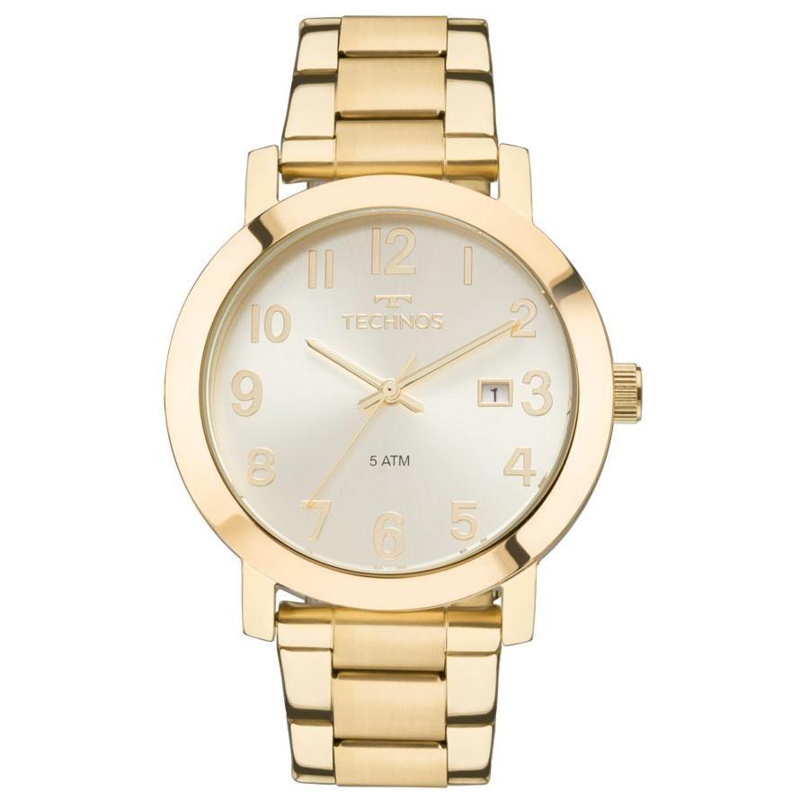 3fc5a5394142d Relógios Web Shop Relógio Technos Feminino Ref  2115mnd 4x Casual Dourado