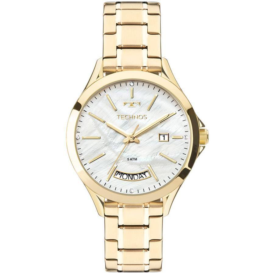 2514d06877a24 Relógios Web Shop Relógio Technos Feminino Ref  2350ae 4b Fashion Dourado