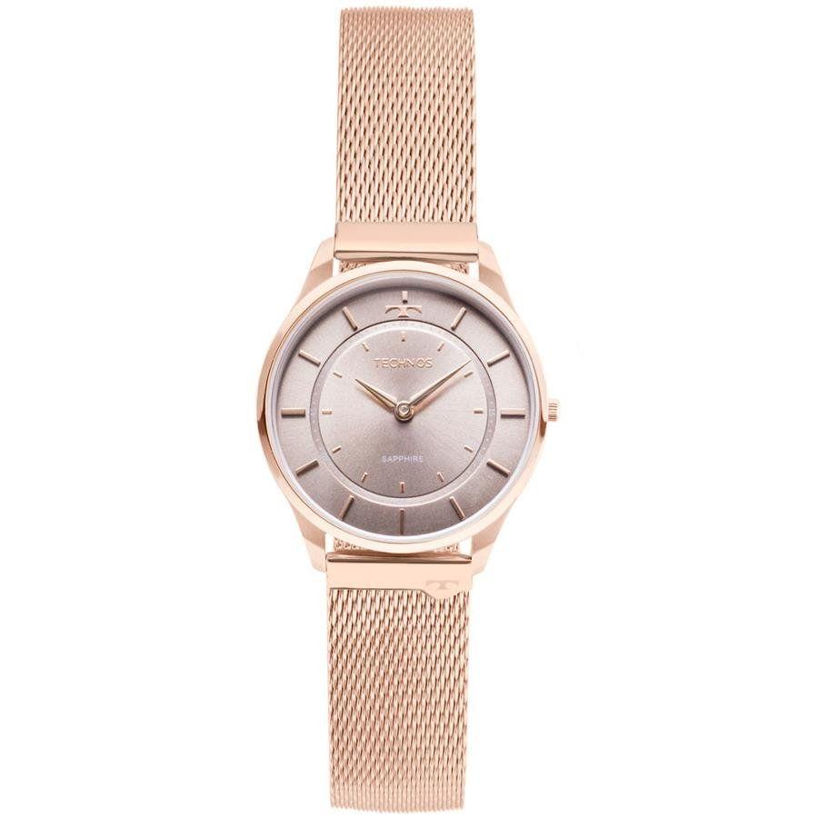 49a034f3356ef Relógios Web Shop Relógio Technos Feminino Ref  9t22al 4c Slim Rosé