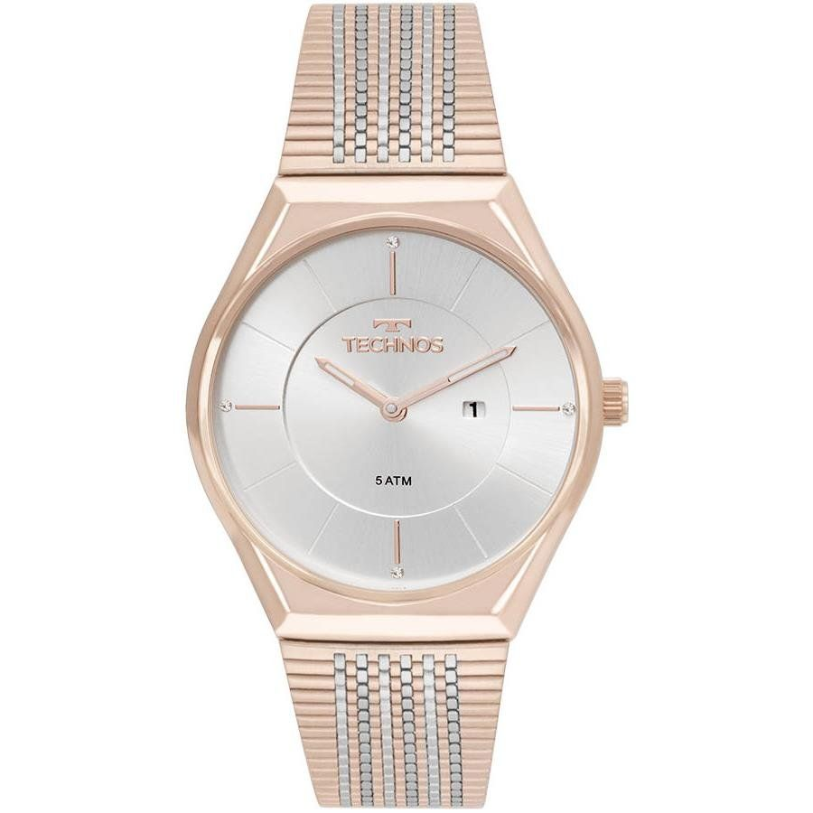 ae8c3a1045687 Relógios Web Shop Relógio Technos Feminino Ref  Gl15ap 4b Slim Rosé