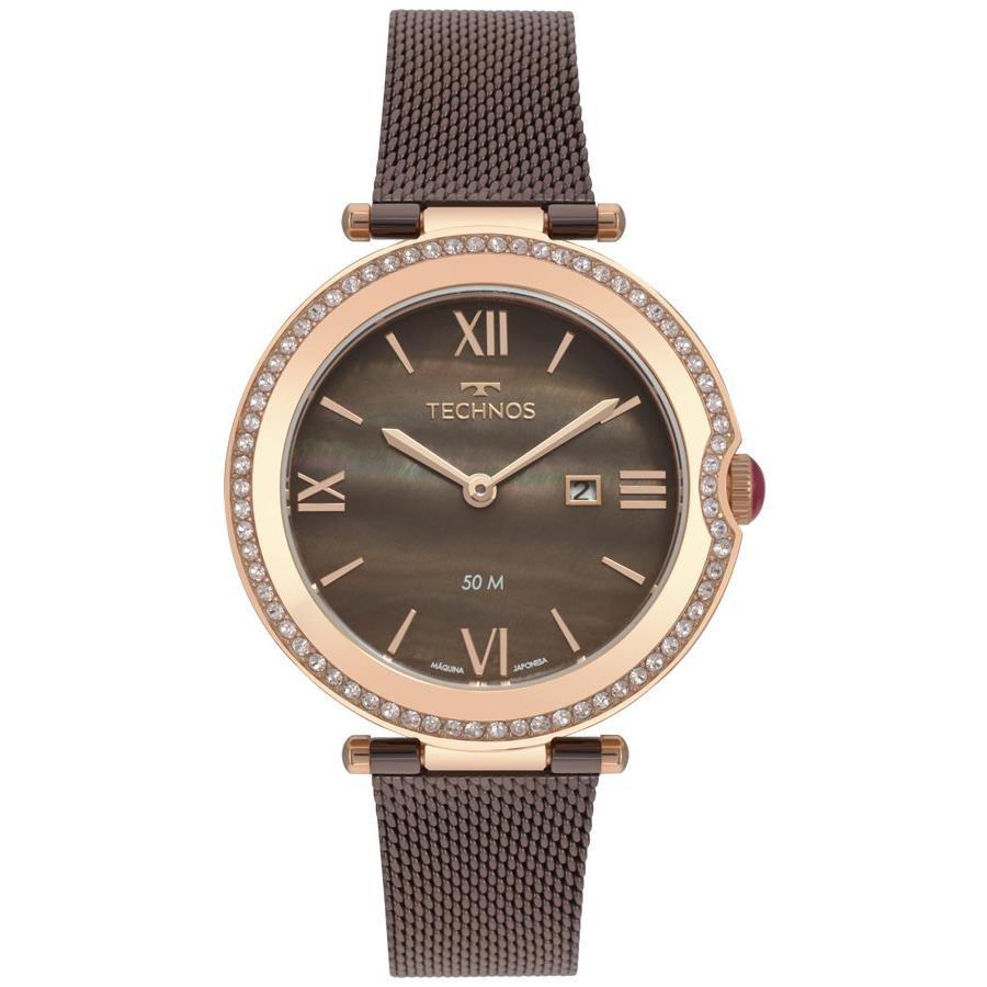 81ec61e6d8671 Relógio Technos Feminino Ref  Gl15au 5m Elegance Rosé - Relógios Web Shop  ...