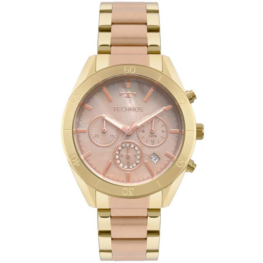 a30a5287ca1f1 Relógios Web Shop Relógio Technos Feminino Ref  Js25bw 5m Cronógrafo Rosé