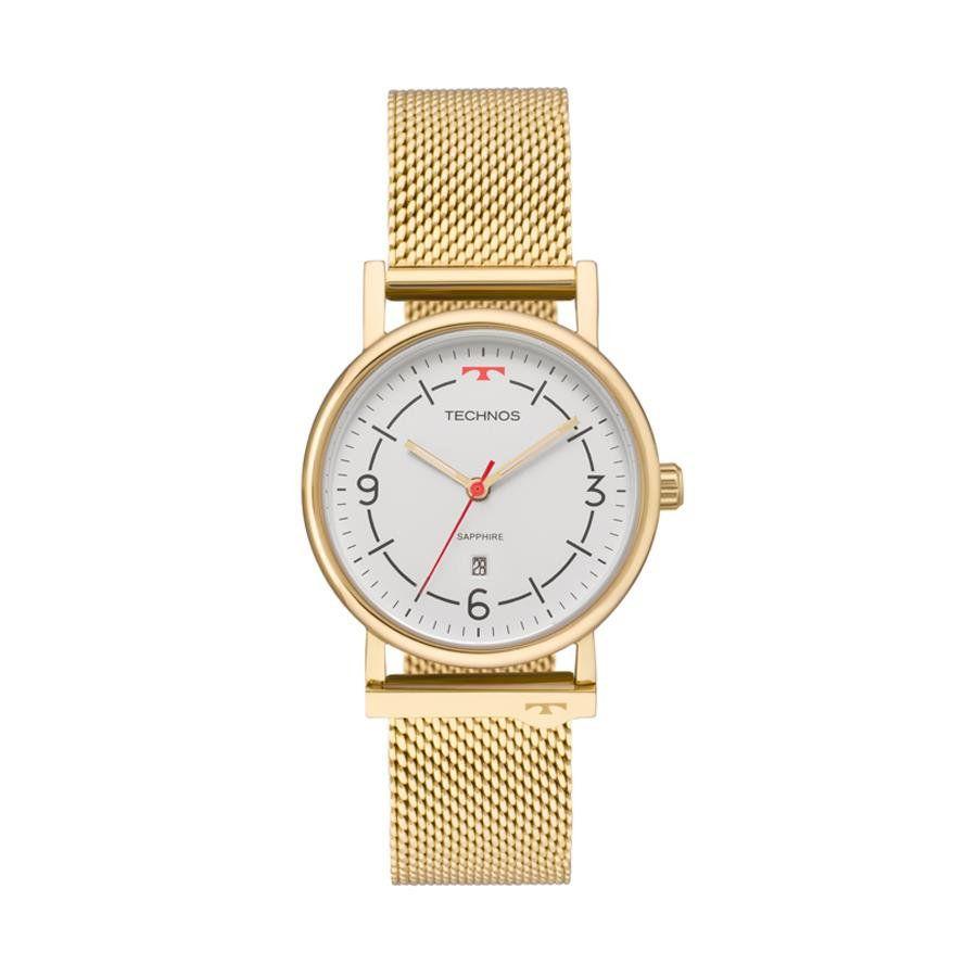 Relógios Web Shop Relógio Technos Feminino Ref  9t13ab 4b Slim Dourado d369f9094f