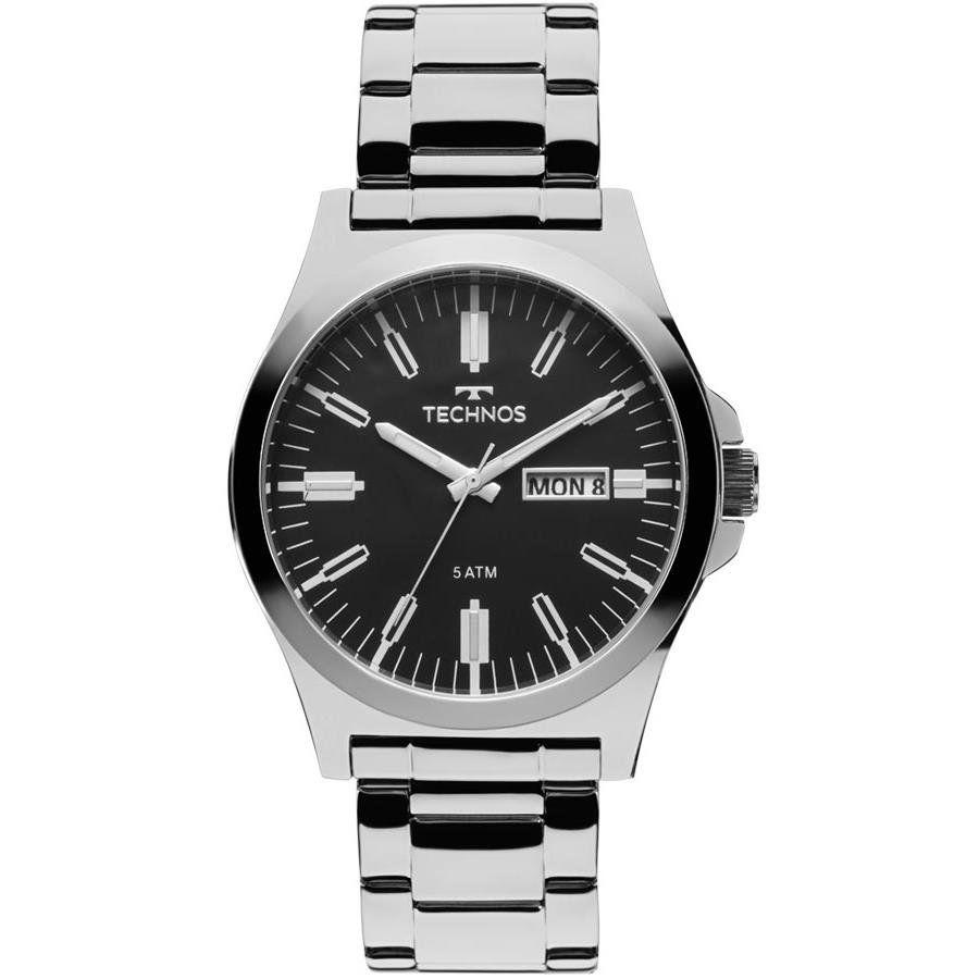 Relógios Web Shop Relógio Technos Masculino Ref  2305ax 1p Classic Steel  Prata 415c7653d9