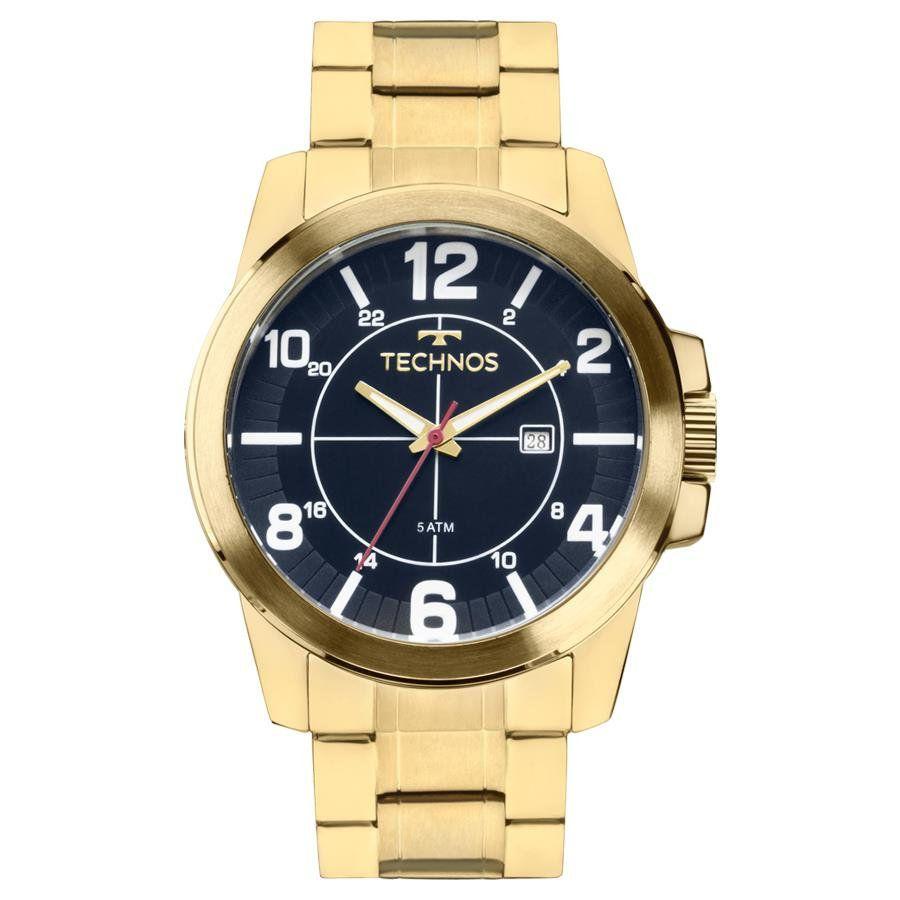 a456f16aa05e2 Relógios Web Shop Relógio Technos Masculino Ref  2115mgs 4a Racer Dourado