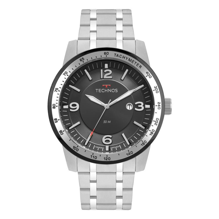 5fff9bfd23 Relógios Web Shop Relógio Technos Masculino Ref  2117lbc 1p Racer Prata