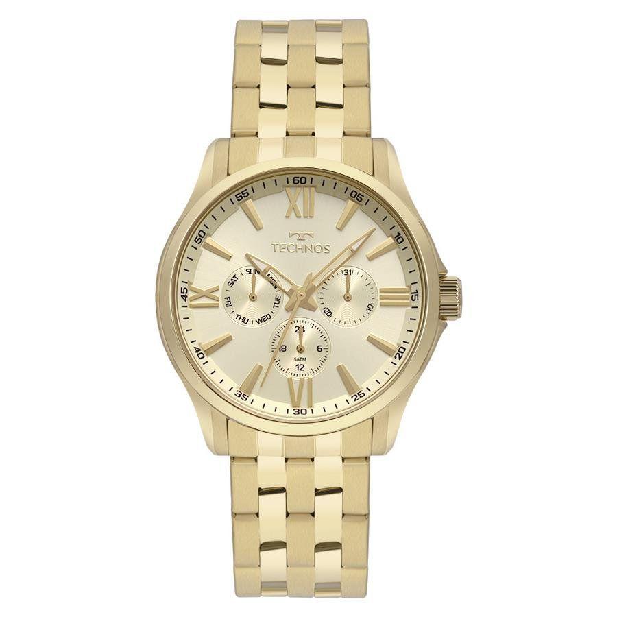 e1c38181d45 Relógios Web Shop Relógio Technos Masculino Ref  6p29aju 4x Multifunção  Dourado