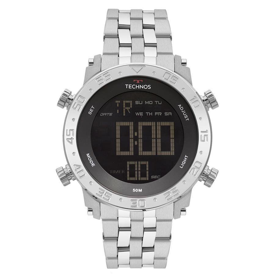 6e28e3046ad Relógios Web Shop Relógio Technos Masculino Ref  Bjk006ab 1p Digital Prata