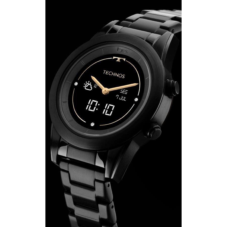 17bb1c5fa162f ... Smartwatch Technos Feminino Ref  P01ad 4p Connect Duo Black - Relógios  Web Shop