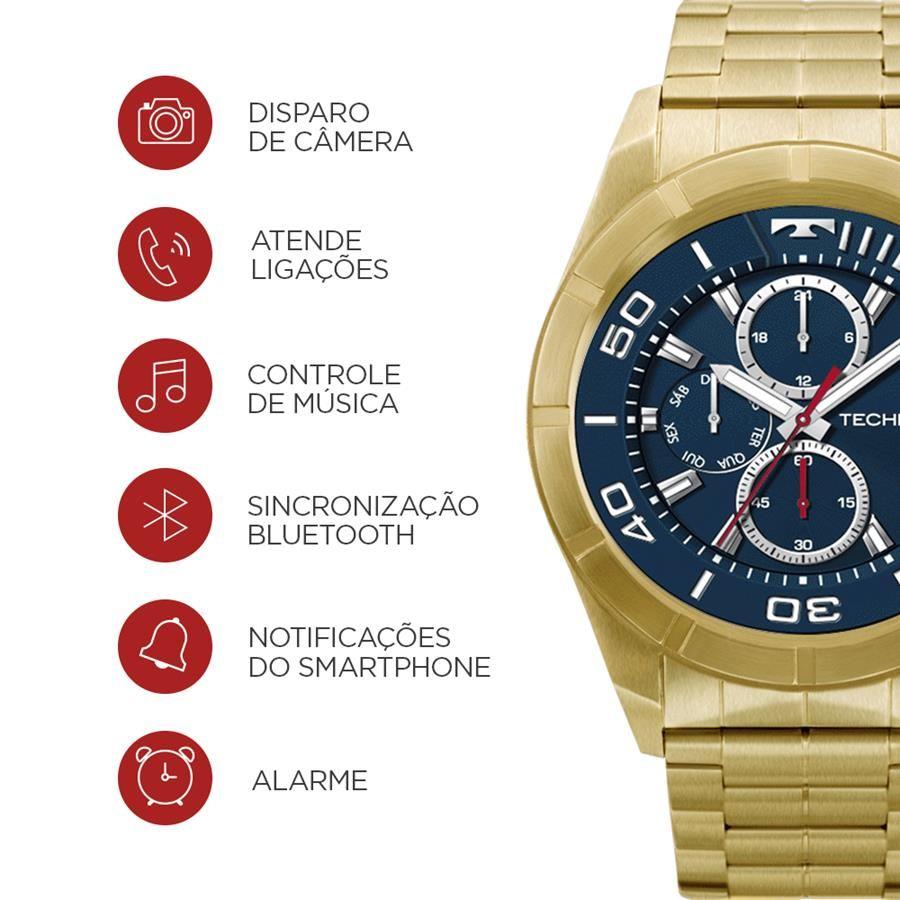 ... Smartwatch Technos Connect Ref  Srab 4p Dourado Touch Full Display -  Relógios Web Shop a0f22f5dbe