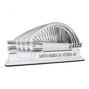 Brindes Lembranças para cidade Monumento 3D Passarela 10cm x 20cm MDF BRANCO