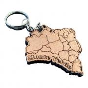 CHAVEIRO Mapa do Brasil personalizado MDF CRU
