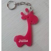Chaveiro personalizado Girafa Acrílico Colorido