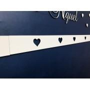 Faixa border de parede avulso Corações 60cm