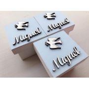 Kit 20 caixinhas personalizadas Batizado Pombinha Mdf 6cm (R$ 4,50 cada)