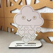 REF. 001 - Kit Lembrancinhas de Mesa tema Chuva de Amor MDF BRANCO
