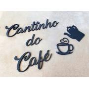 Kit decorativo 40cm Cantinho do Café em MDF