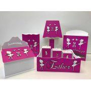 Kit Higiene 8 Peças Meninas Bailarinas Personalizado