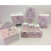 Kit Higiene 8 Peças Personalizado modelo Ursa Princesa