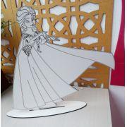 Kit Lembrancinhas de mesa Frozen MDF BRANCO