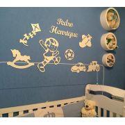 Kit Painel de Parede Brinquedos Personalizado MDF BRANCO